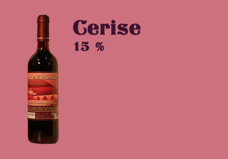 Vin de Cerise - 75 cl - Alcool 15 %