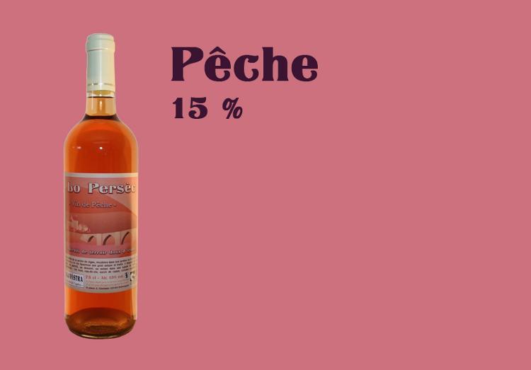 Vin de Pêche - 75 cl - Alcool 15 %