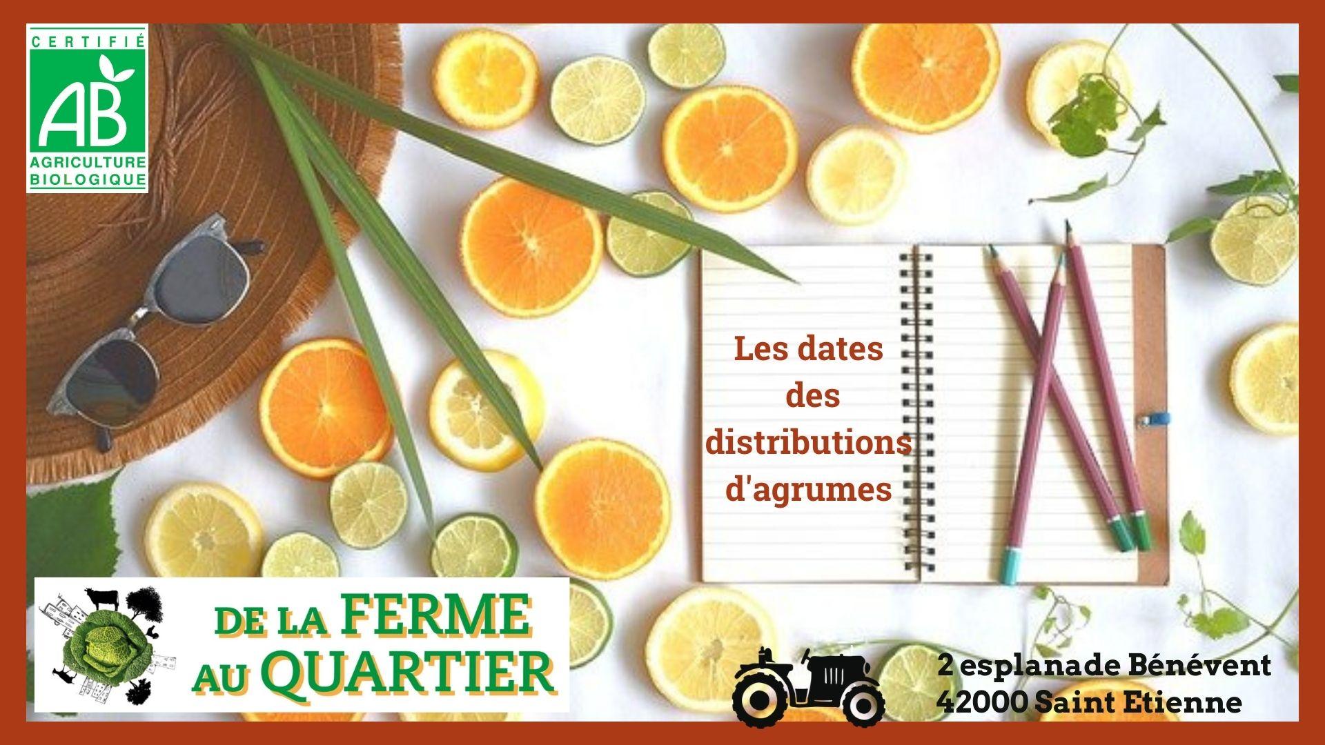 Dates des distributions des Agrumes