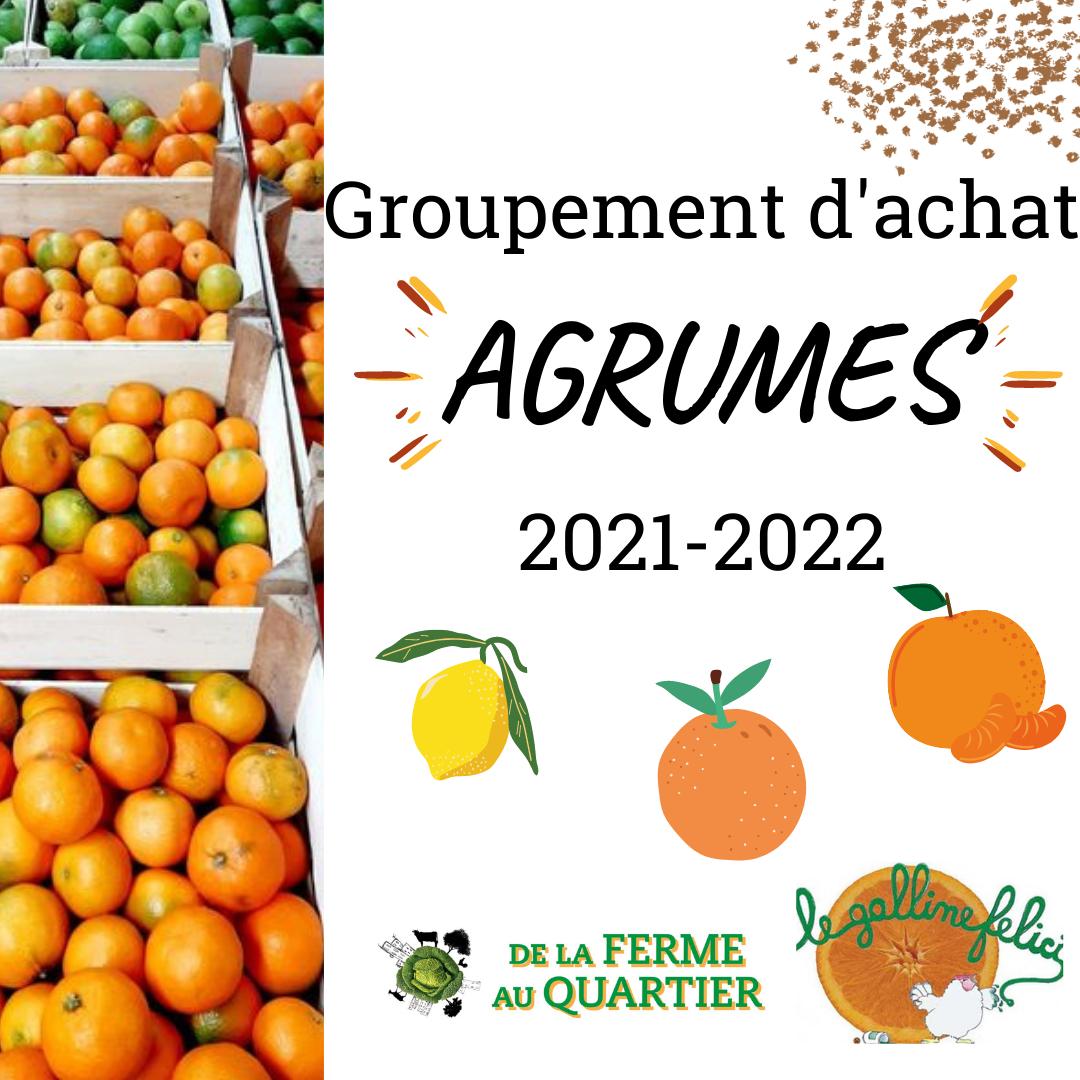 Groupement d'achat Agrumes 2021-2022 en 6 livraisons !