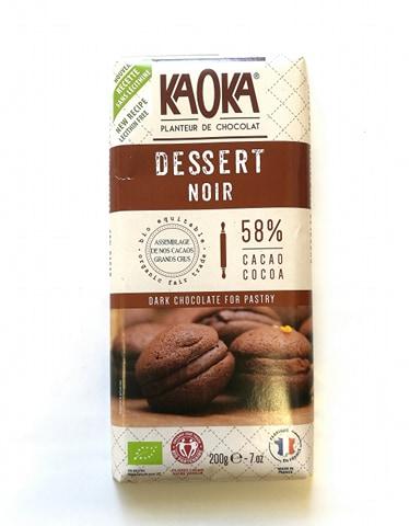 Chocolat noir dessert pâtissier 58%