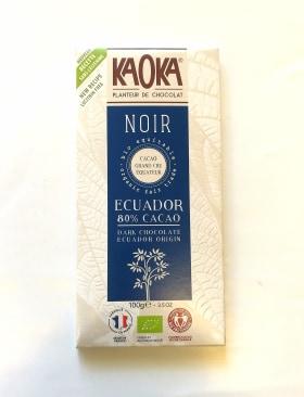 Chocolat noir equateur 80%