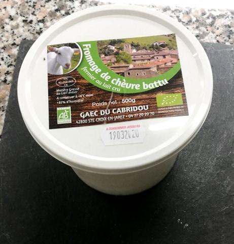 Fromage blanc battu de chèvre (cabridou)