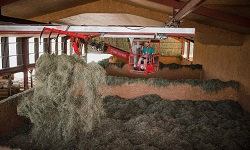 Séchage en grange du foin
