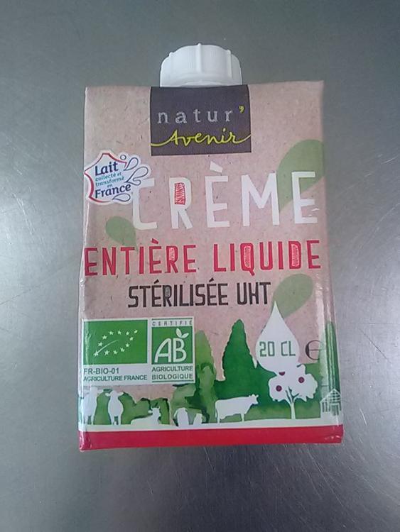 Briquette crème liquide  entière 20 cl