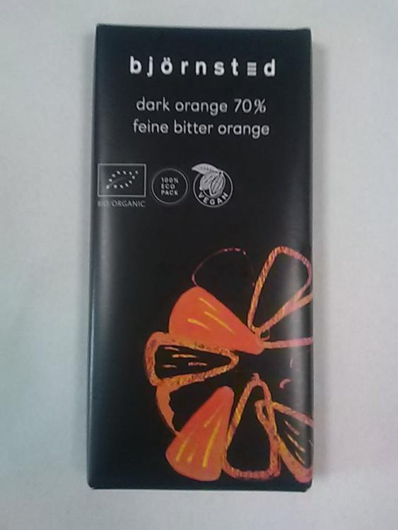 Tablette chocolat noir à l'orange