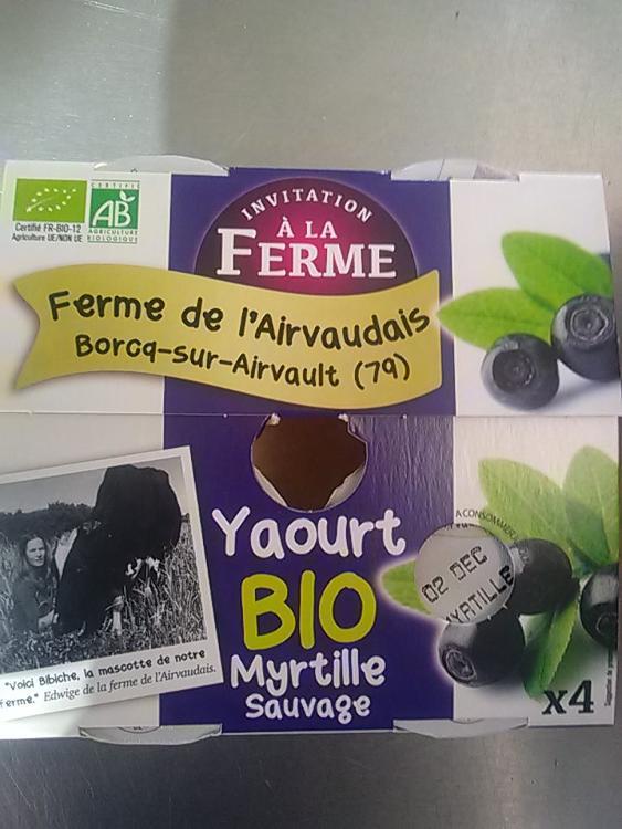 yaourt myrtille 4x 125g Ferme de l'airvaudais