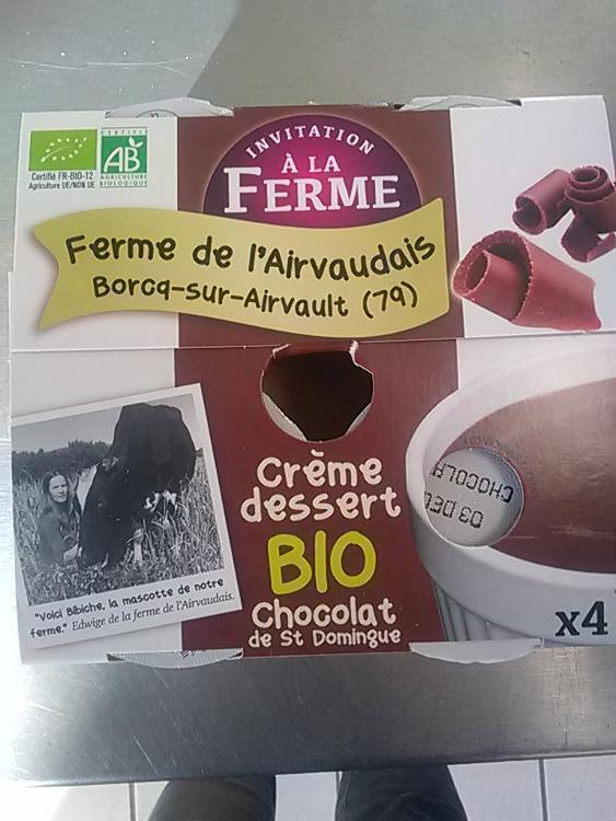 Crème dessert chocolat 4x 100g Ferme de l'airvaudais