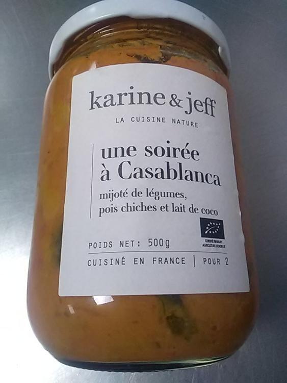 """"""" Une soirée à Casablanca"""" mijotée de légumes, pois chiches et lait de coco"""