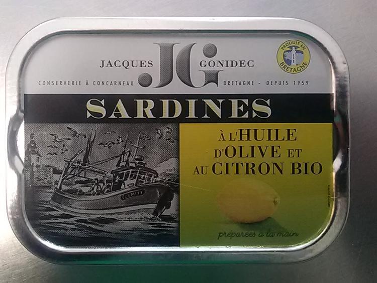 Sardine citron et huile d'olive bio (115g)