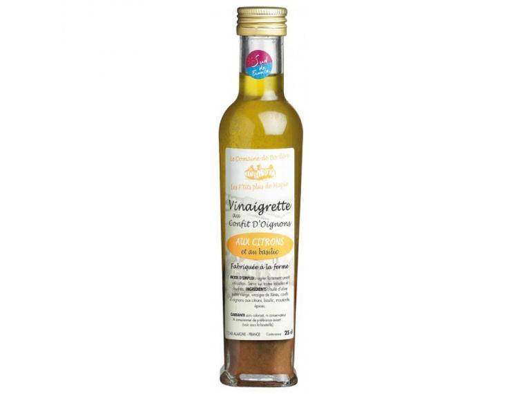 Vinaigrette aux confits d'oignons, citrons et basilic