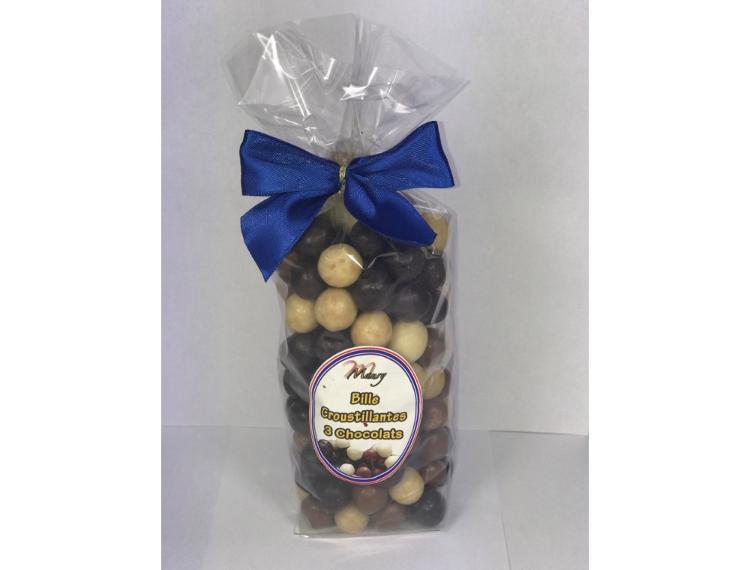 Billes croustillantes 3 chocolats