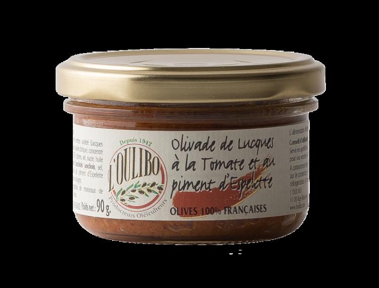 Olivade de Lucques à la Tomate et piment d'Espelette