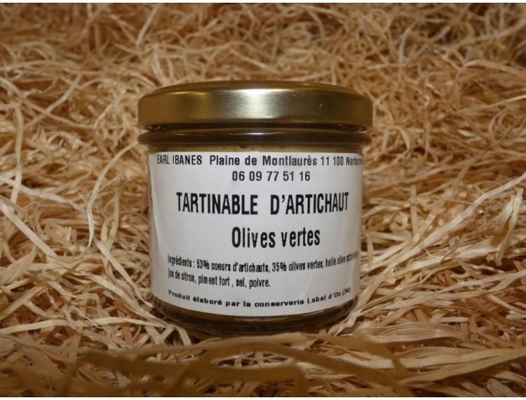 Tartinable d'artichaut aux olives vertes