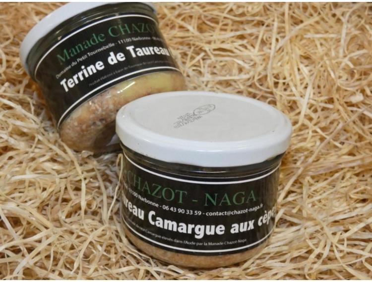 Terrine de Taureau Camargue aux cèpes