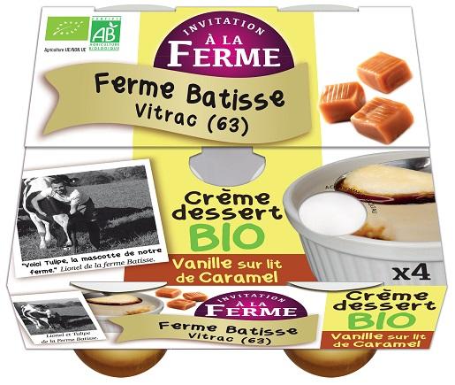 Crème dessert Vanille sur lit de caramel 4x100g