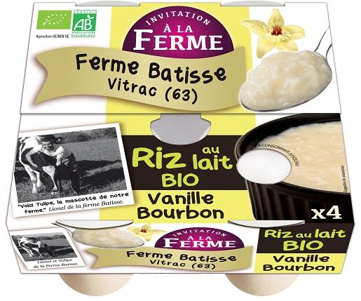 Riz au lait vanille bourbon 4x125g
