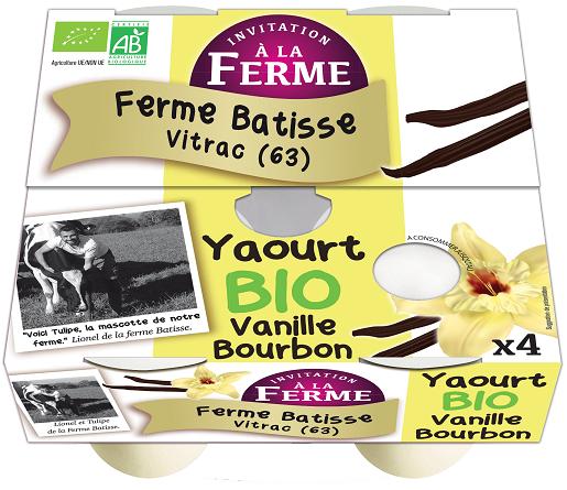 Yaourt local à la Vanille Bourbon 4x125g