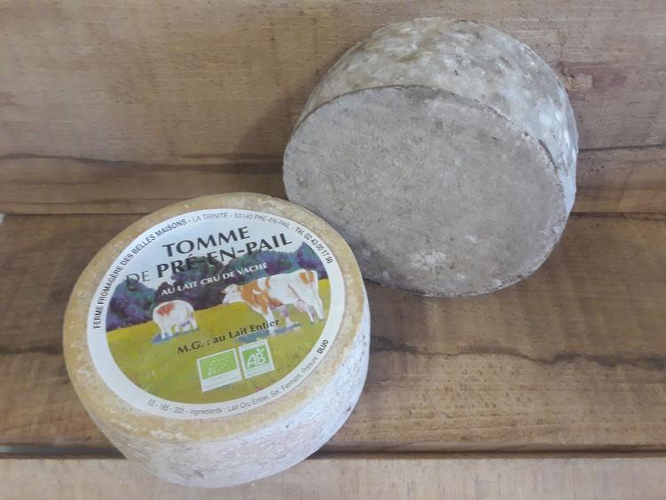 Tomme de pré-en-Pail EPICEE POIVRE NOIR affinage 2 mois - 1/8 de tomme - Ferme fromagère du Pays de Pail