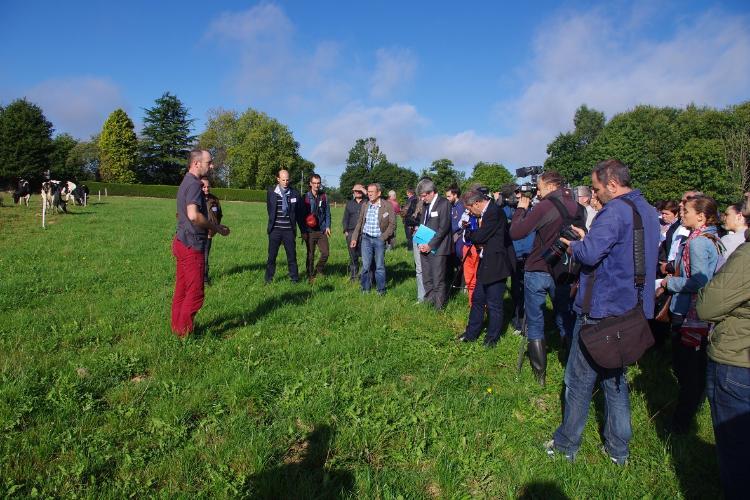 Visite organisée par la FNAB au P'tit Gallo