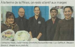 La ferme de la Pinais dans Ouest France - 03/01/2017