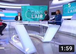 Passage dans C' dans l'air sur France 5