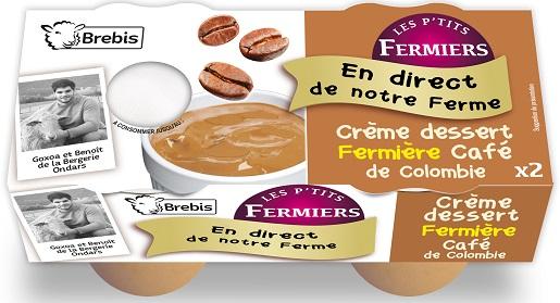 Crème dessert café de Colombie au lait de Brebis 2x100g