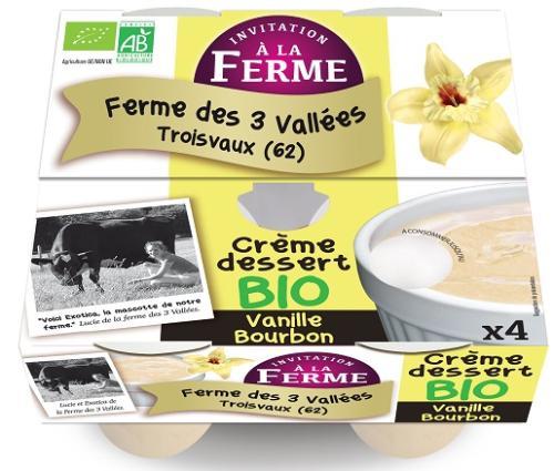 Crème dessert Vanille 4x100g