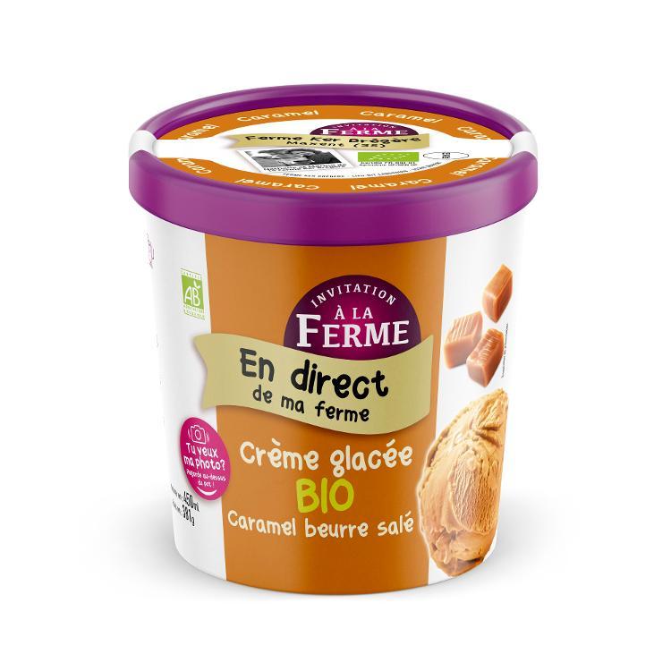 Crème glacée Bio Caramel Beurre Salé
