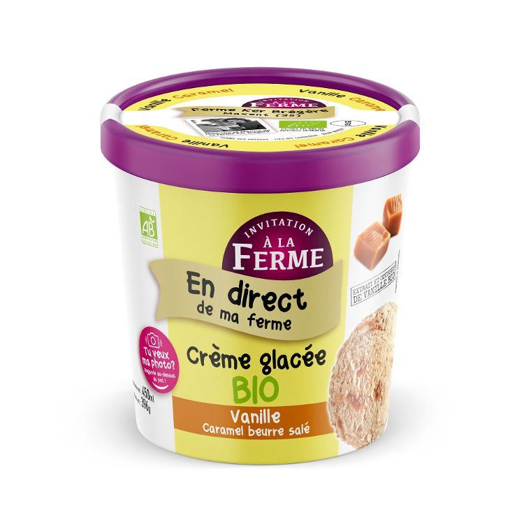 Crème glacée Bio Vanille / Caramel beurre salé
