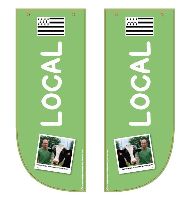 kakemono local avec potence Fromage 400 *150