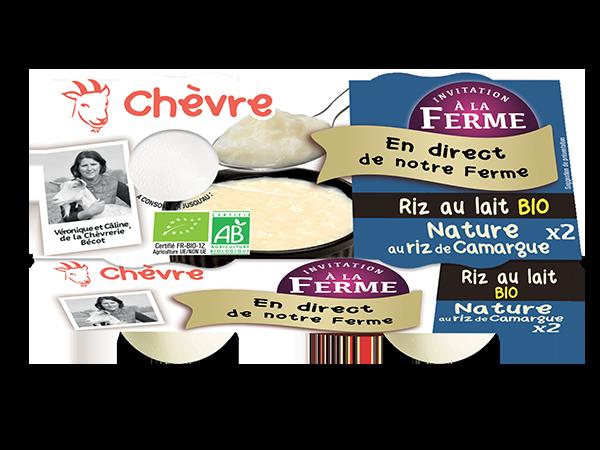 Riz au lait au lait de chèvre bio nature 2*125g