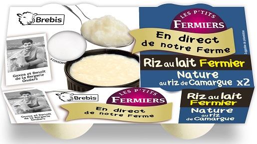 Riz au lait fermier nature au lait de Brebis 2x125g