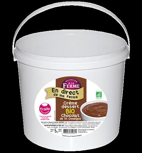 Crème dessert chocolat bio - 5kg
