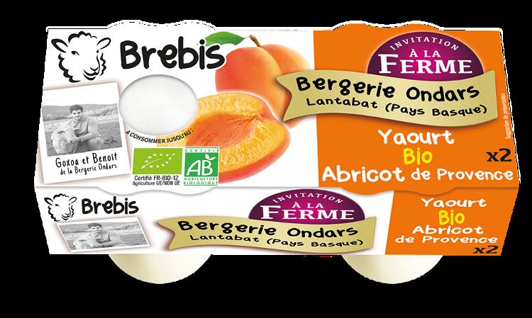 Yaourt sur lit d'abricot au lait de Brebis 2x125g