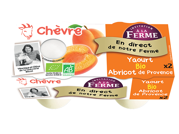 Yaourt au lait de chèvre bio à l'abricot de Provence 2*125g