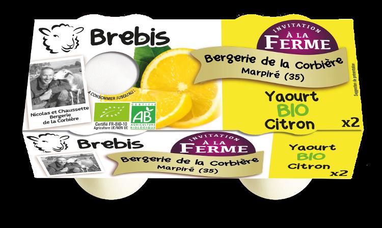 Yaourt citron au lait de Brebis 2x125g