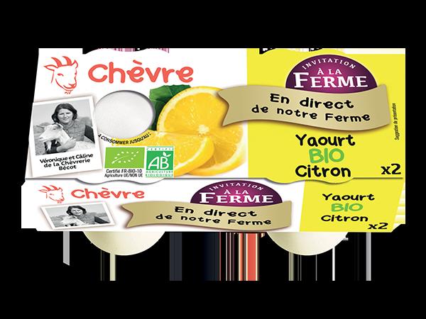 Yaourt au lait de chèvre bio au citron  2*125g