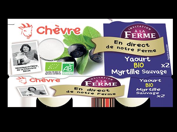 Yaourt au lait de chèvre bio à la myrtille sauvage 2*125g