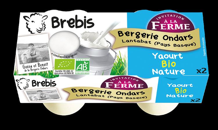 Yaourt nature au lait de Brebis 2x125g