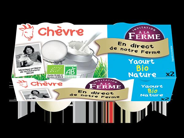 Yaourt au lait de chèvre bio nature 2*125g