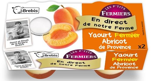 Yaourt fermier à l'abricot de Provence au lait de Brebis 2x125g