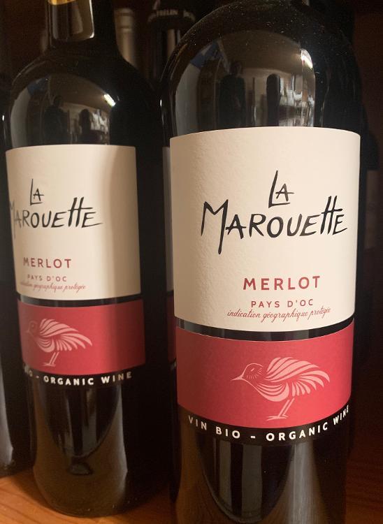 Vin rouge La Marouette Merlot (Pays d'Oc) 13,5%vol 75cl
