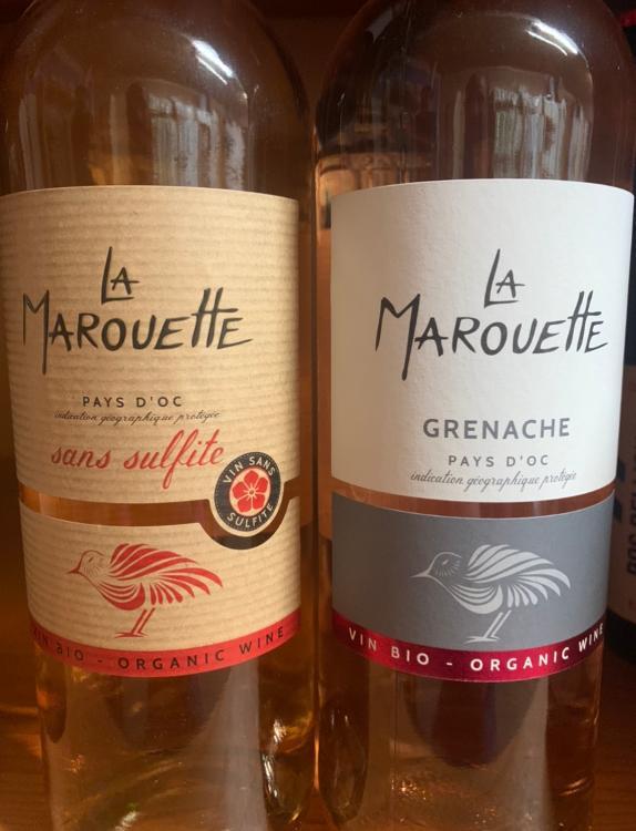 Vin rosé La Marouette Sans sulfite (Pays d'Oc) 12%Vol 75cl