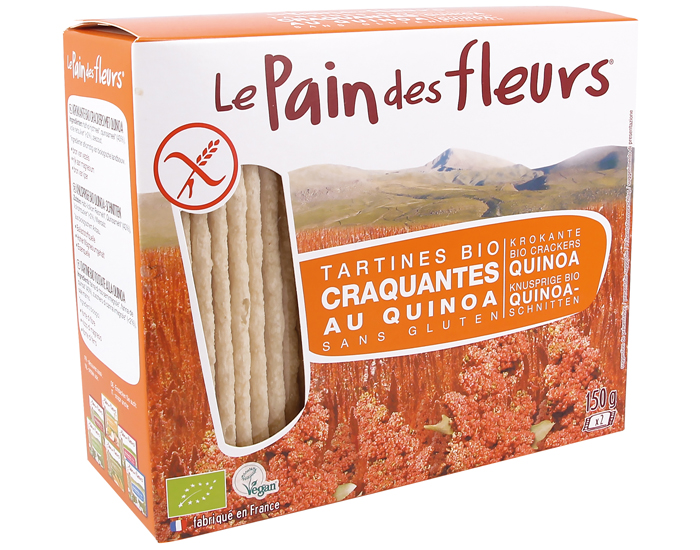 Tartines craquantes au quinoa Le pain des fleurs 150g