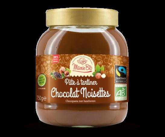 Pâte à tartiner Chocolat Noisettes   Mamie Bio  750g