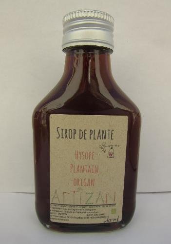 Sirop de plante Hysope, Plantain, Origan 100ml