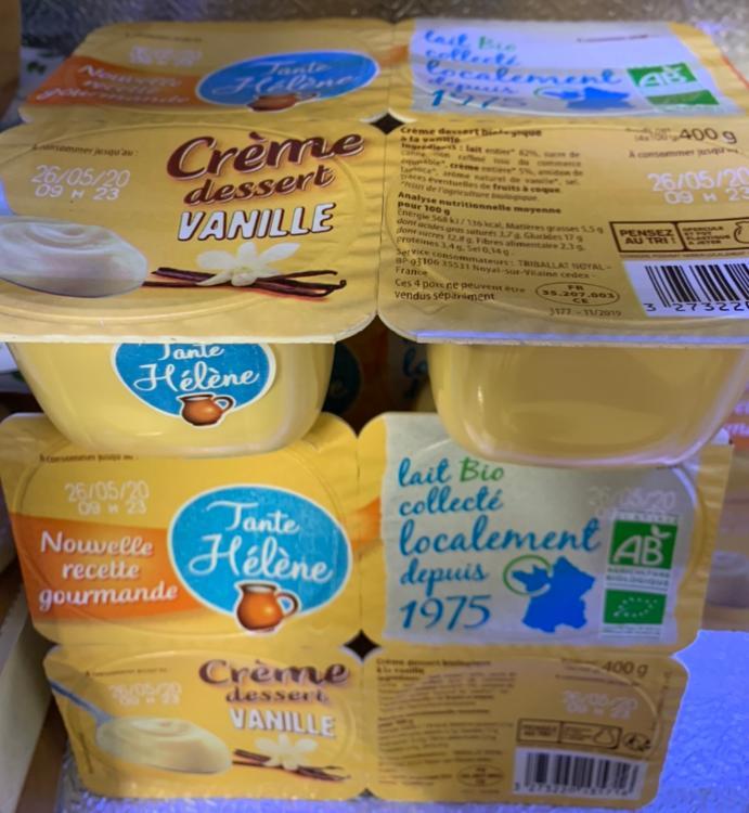 Crème dessert vanille Tante Hélène 4x100g