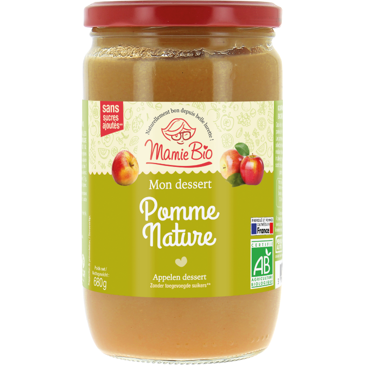 Compote Pommes Nature 680g
