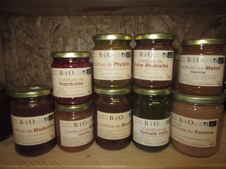 Confiture de Pommes-cassis Conserve Paysanne Brilouis 240g Pot en Verre